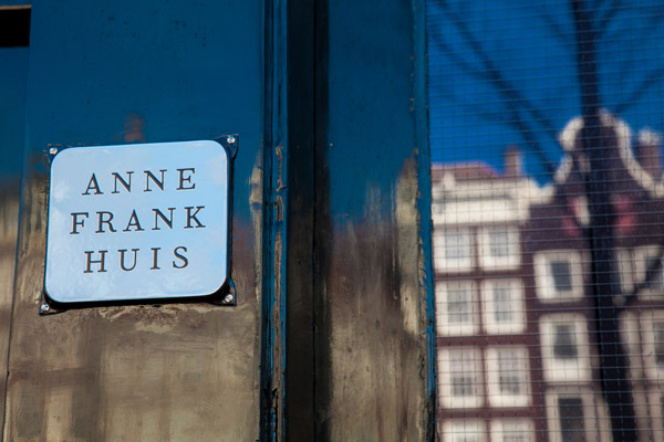 Door of Anne Frank house